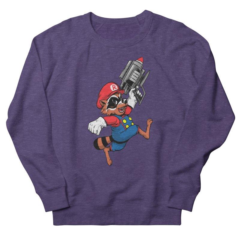 Super Raccoon Men's Sweatshirt by Nikoby's Artist Shop