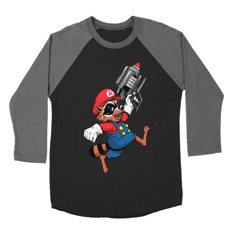 Super Raccoon Men's Baseball Triblend T-Shirt by Nikoby's Artist Shop