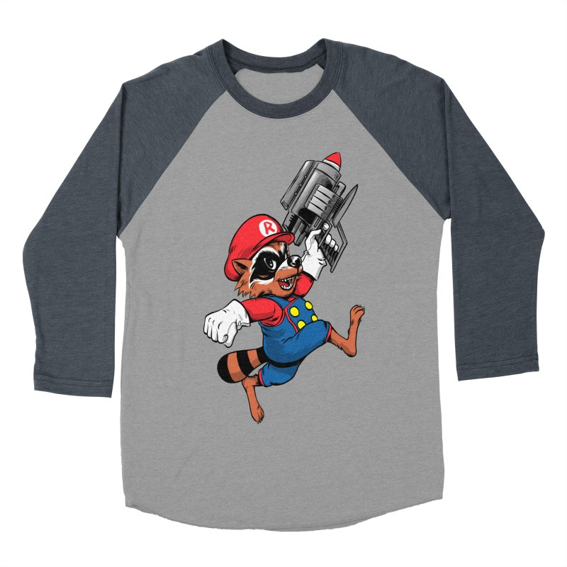 Super Raccoon Men's Baseball Triblend T-Shirt by Nikoby's Artist Shop