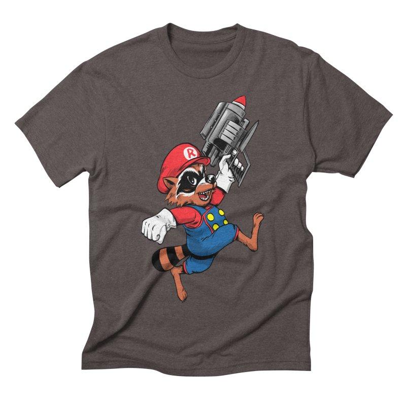 Super Raccoon Men's Triblend T-shirt by Nikoby's Artist Shop
