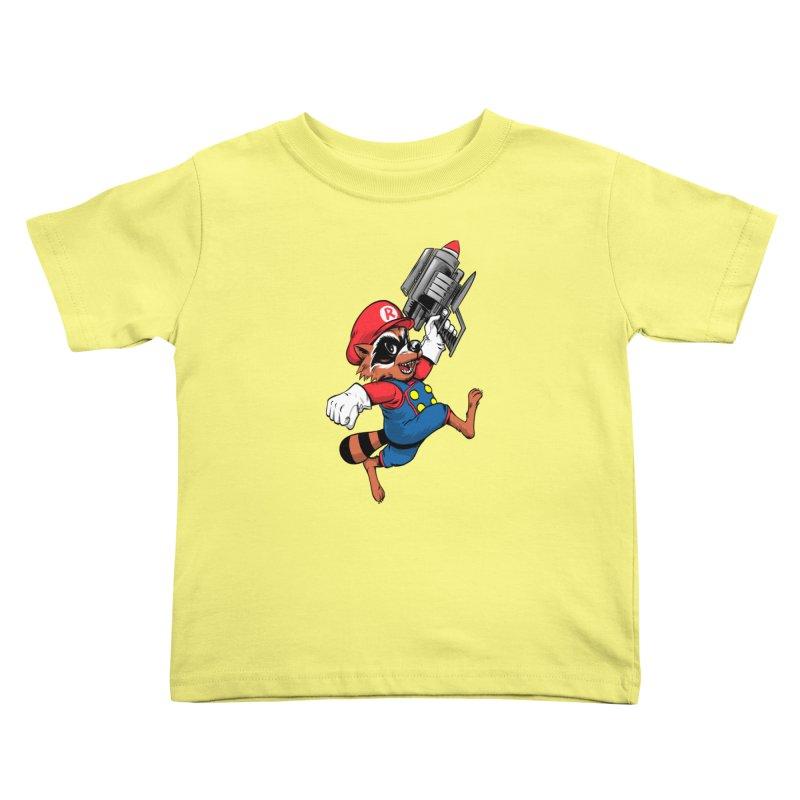 Super Raccoon Kids Toddler T-Shirt by Nikoby's Artist Shop
