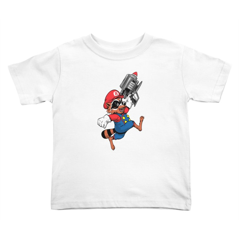 Super Raccoon Kids Toddler T-Shirt by Nikoby's Artist Shop