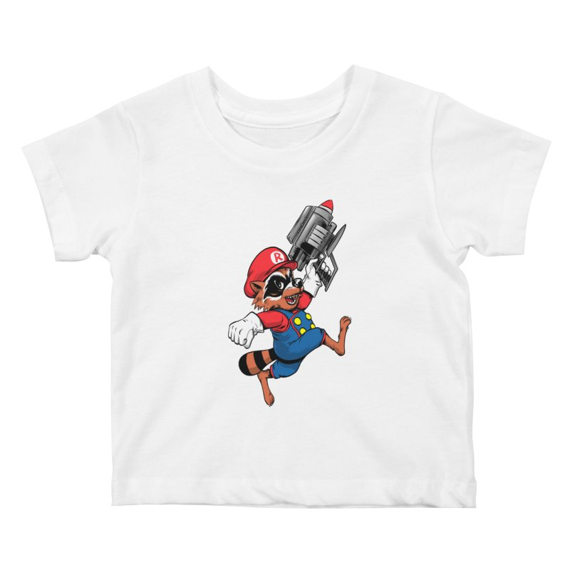 Super Raccoon Kids Baby T-Shirt by Nikoby's Artist Shop