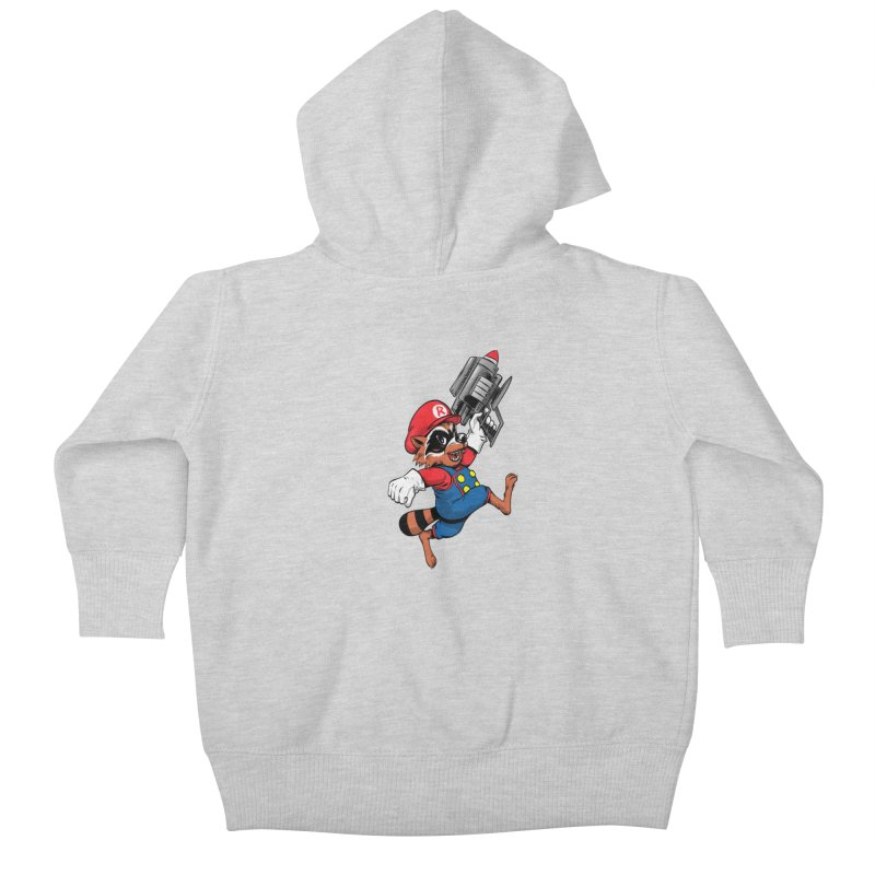 Super Raccoon Kids Baby Zip-Up Hoody by Nikoby's Artist Shop