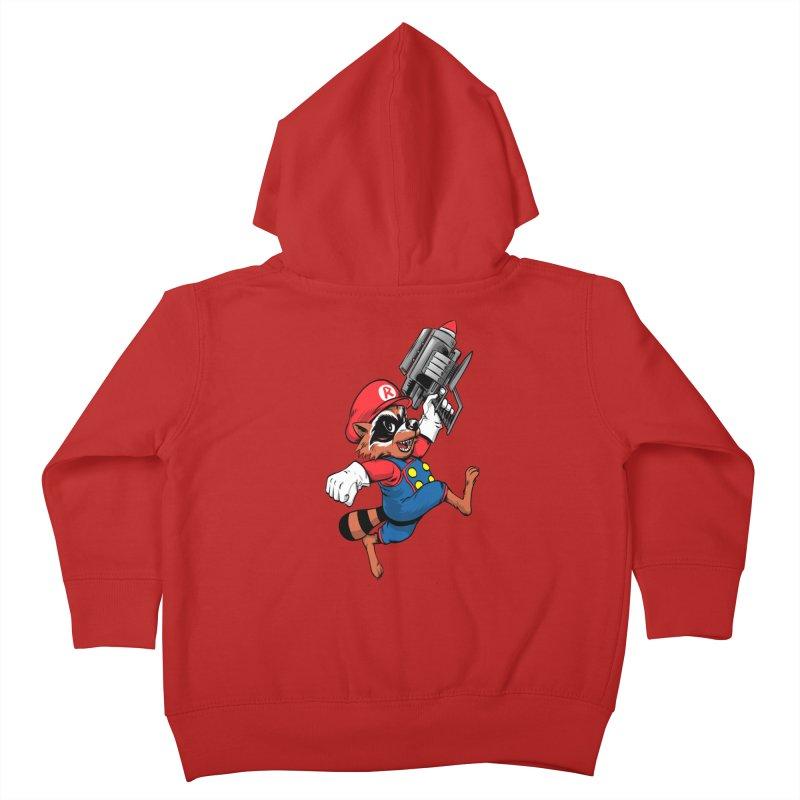 Super Raccoon Kids Toddler Zip-Up Hoody by Nikoby's Artist Shop