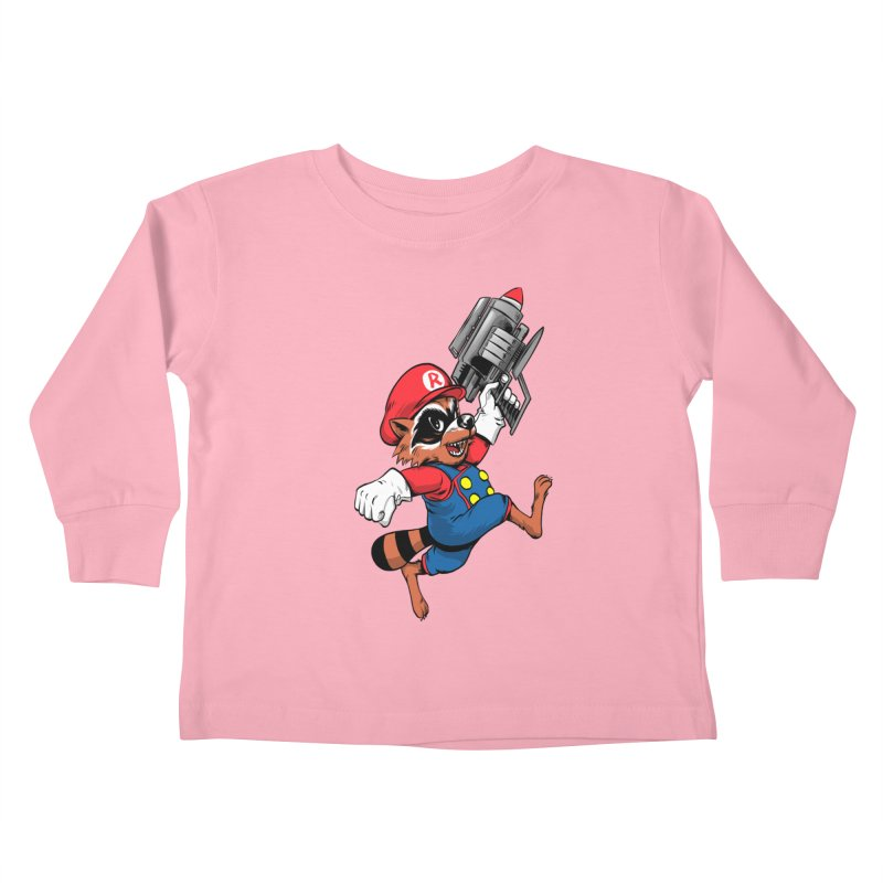 Super Raccoon Kids Toddler Longsleeve T-Shirt by Nikoby's Artist Shop