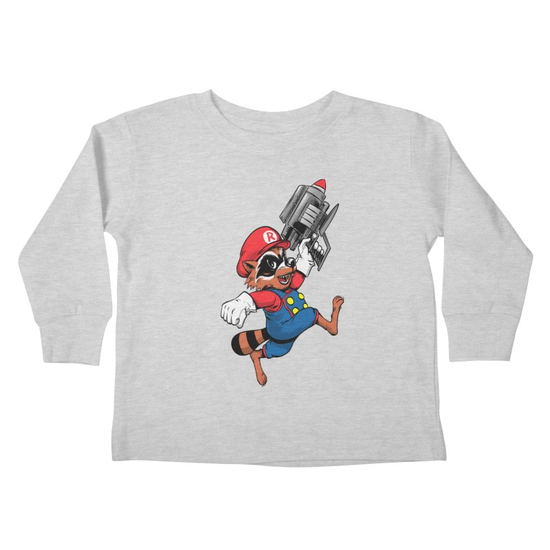 Super Raccoon Kids Toddler Longsleeve T-Shirt by Nikoby's Artist Shop