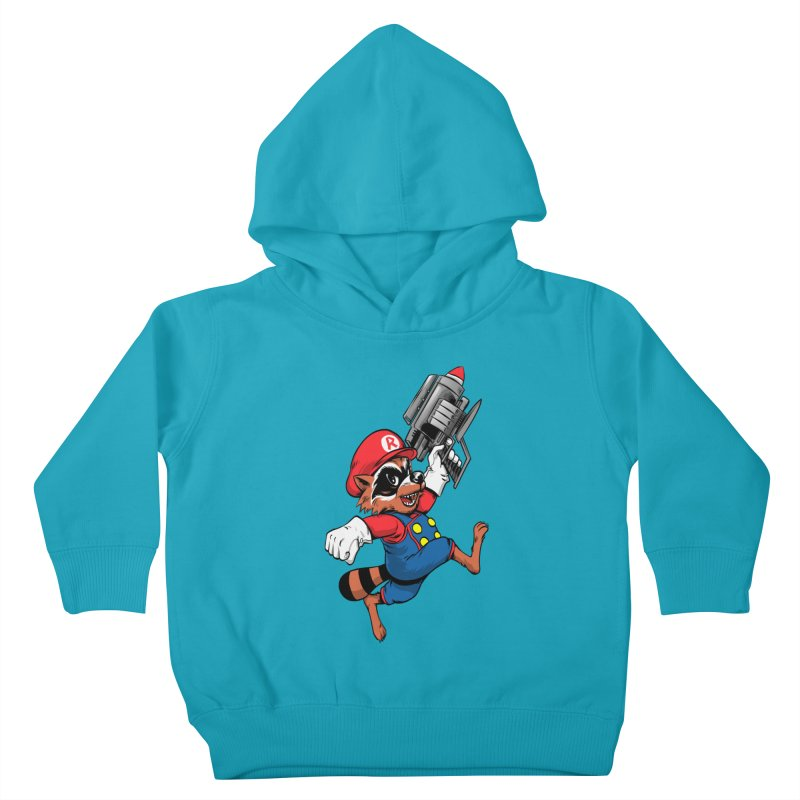 Super Raccoon Kids Toddler Pullover Hoody by Nikoby's Artist Shop
