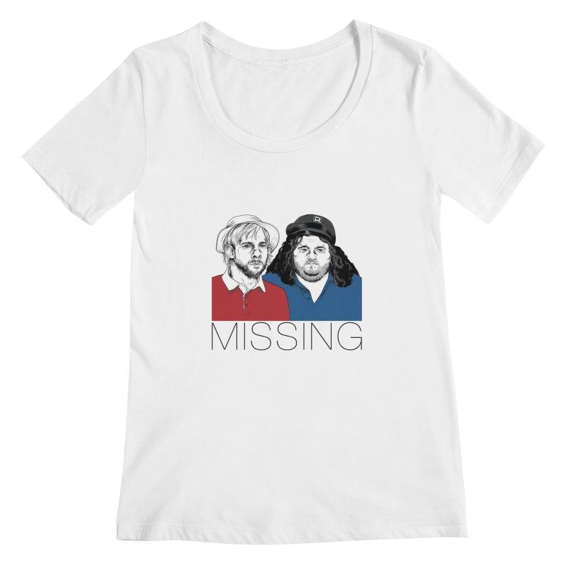 Missing Women's Scoopneck by Nikoby's Artist Shop
