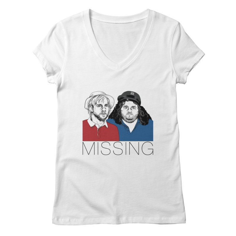 Missing Women's V-Neck by Nikoby's Artist Shop