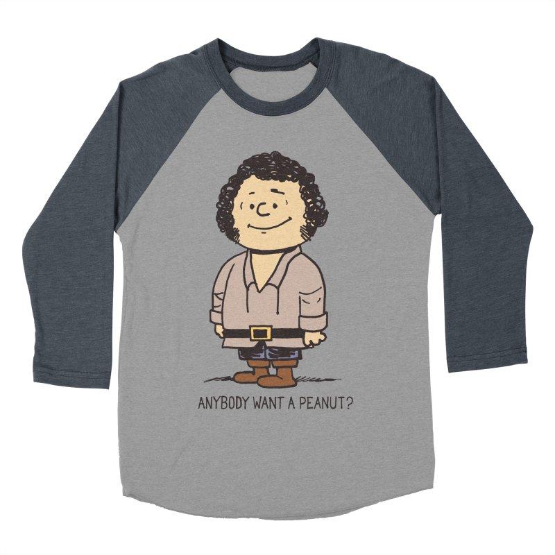 Anybody Want a Peanut? Men's Baseball Triblend T-Shirt by Nikoby's Artist Shop