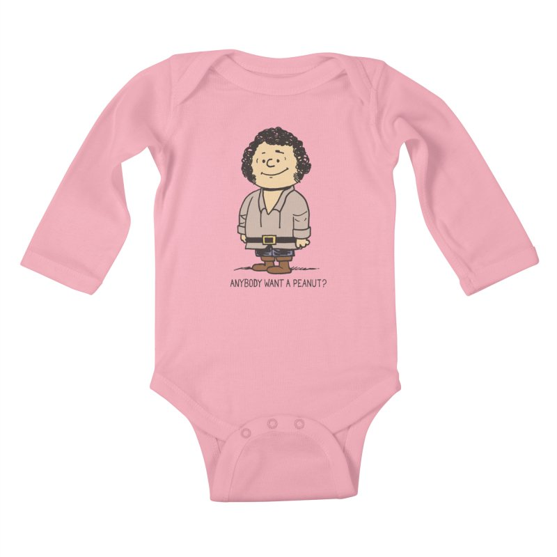 Anybody Want a Peanut? Kids Baby Longsleeve Bodysuit by Nikoby's Artist Shop