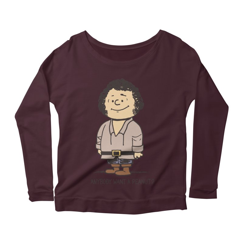 Anybody Want a Peanut? Women's Longsleeve Scoopneck  by Nikoby's Artist Shop