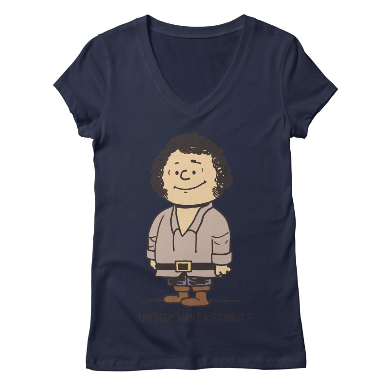 Anybody Want a Peanut? Women's V-Neck by Nikoby's Artist Shop