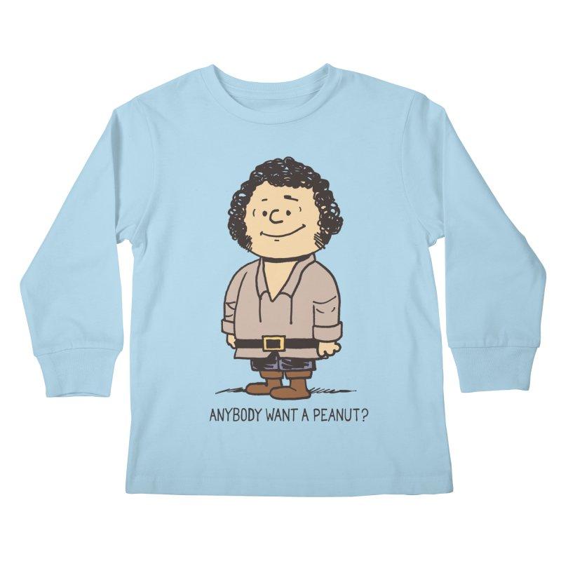 Anybody Want a Peanut? Kids Longsleeve T-Shirt by Nikoby's Artist Shop