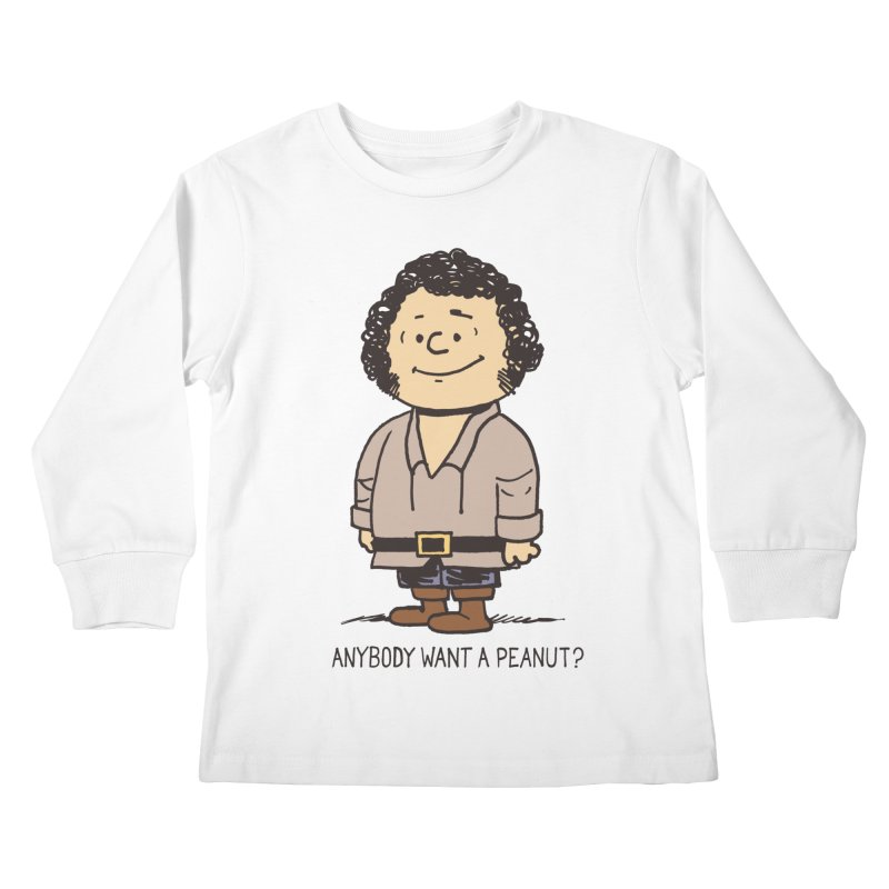 Anybody Want a Peanut? Kids Longsleeve T-Shirt by Nikoby's Artist Shop