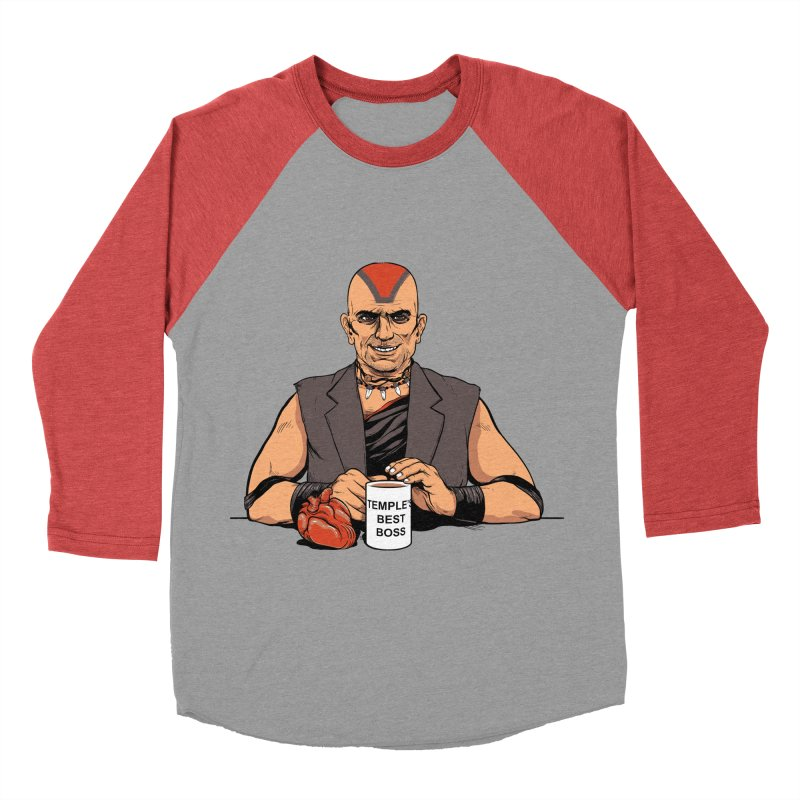 Temple's Best Boss Men's Baseball Triblend T-Shirt by Nikoby's Artist Shop