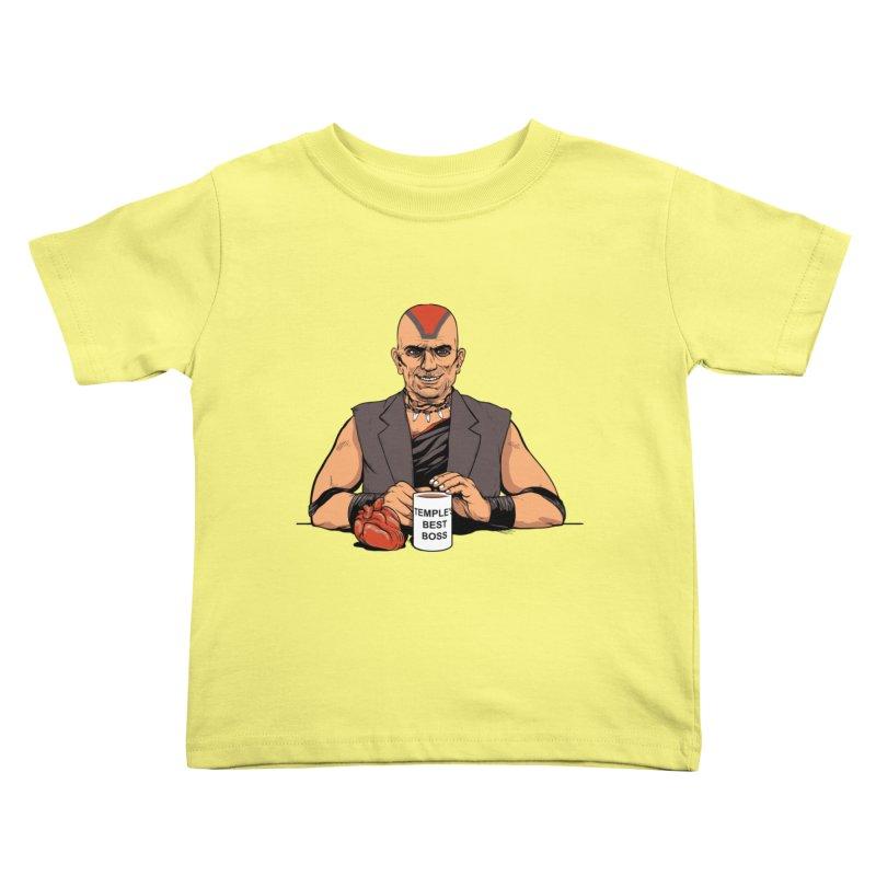 Temple's Best Boss Kids Toddler T-Shirt by Nikoby's Artist Shop