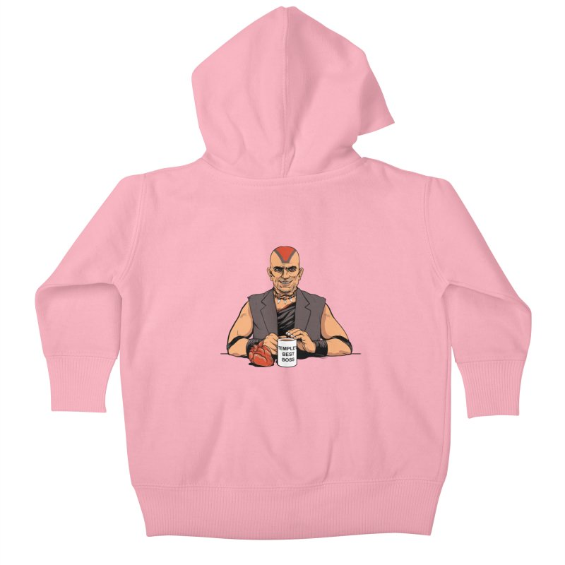 Temple's Best Boss Kids Baby Zip-Up Hoody by Nikoby's Artist Shop