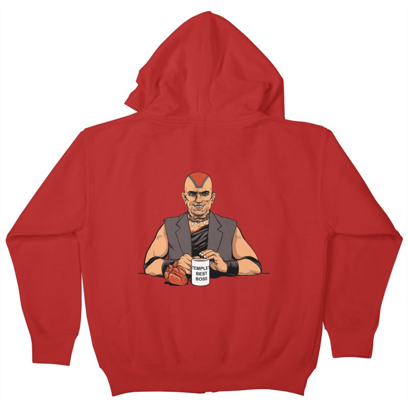 Temple's Best Boss Kids Zip-Up Hoody by Nikoby's Artist Shop