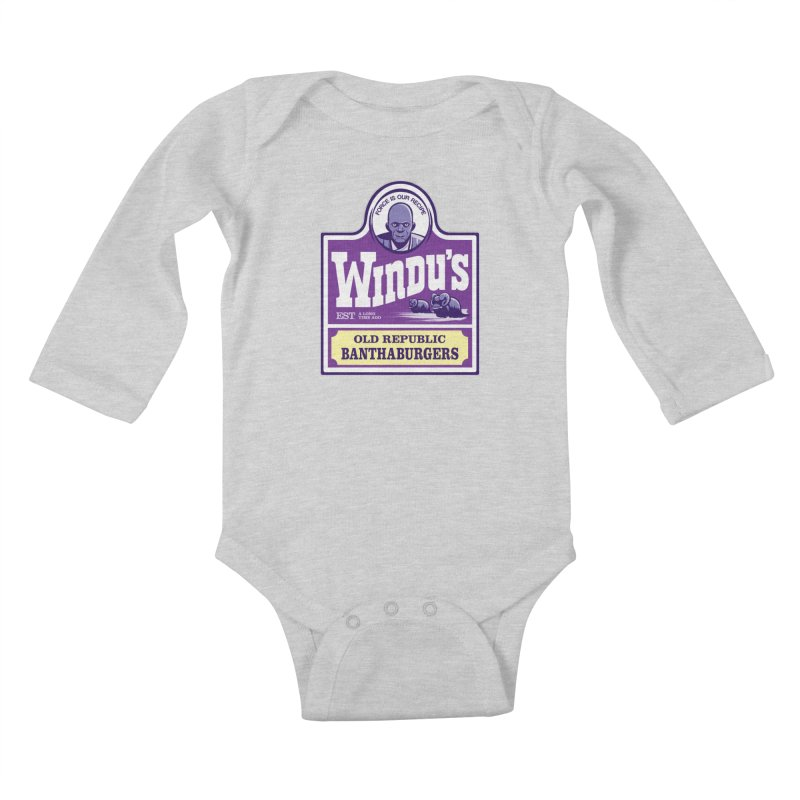 Old Republic Bantha Burgers Kids Baby Longsleeve Bodysuit by Nikoby's Artist Shop
