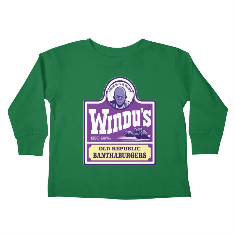 Old Republic Bantha Burgers Kids Toddler Longsleeve T-Shirt by Nikoby's Artist Shop