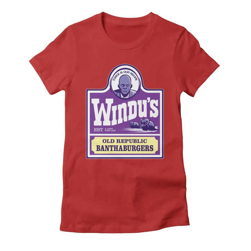Old Republic Bantha Burgers Women's Fitted T-Shirt by Nikoby's Artist Shop