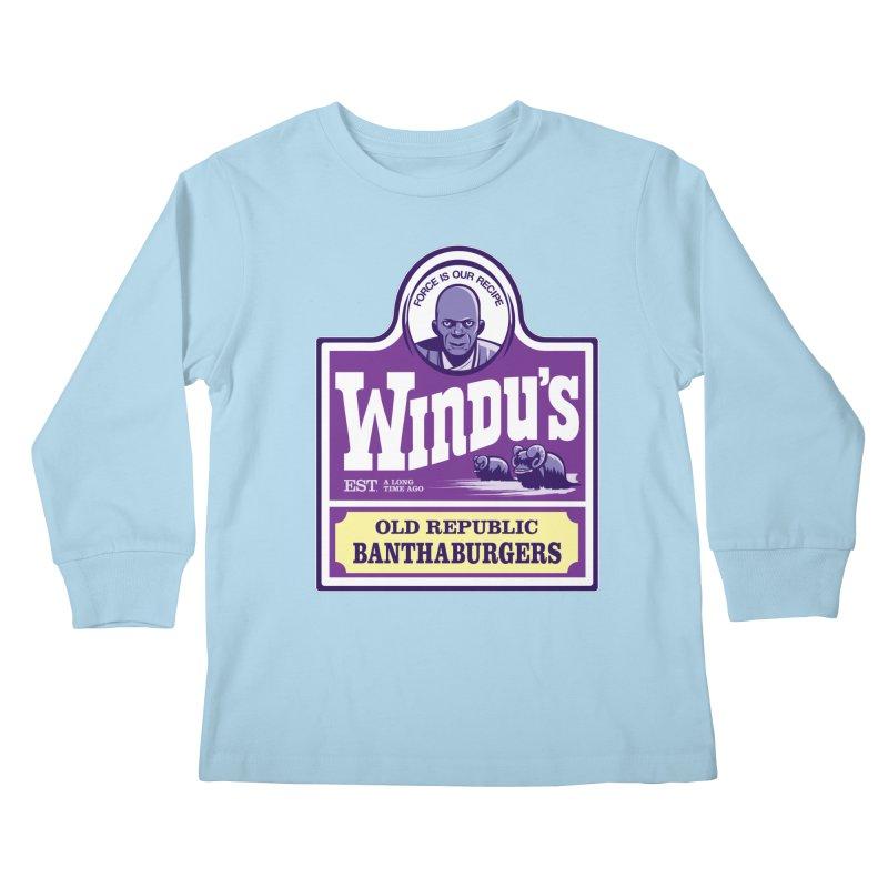 Old Republic Bantha Burgers Kids Longsleeve T-Shirt by Nikoby's Artist Shop