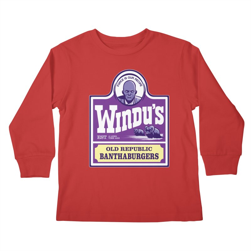 Old Republic Bantha Burgers Kids Longsleeve T-Shirt by Nikoby's Artist Shop