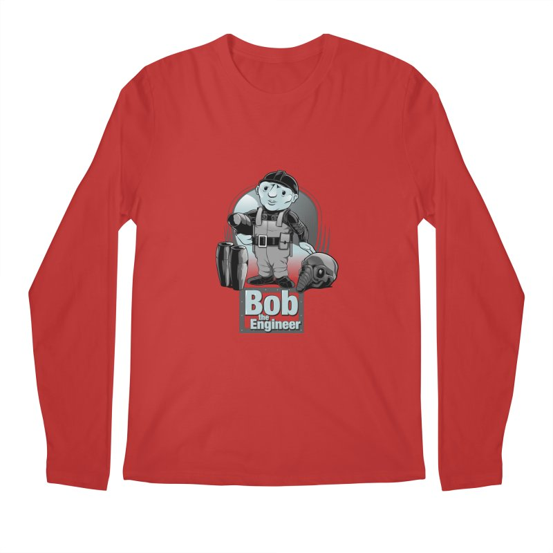 Bob the Engineer Men's Longsleeve T-Shirt by Nikoby's Artist Shop