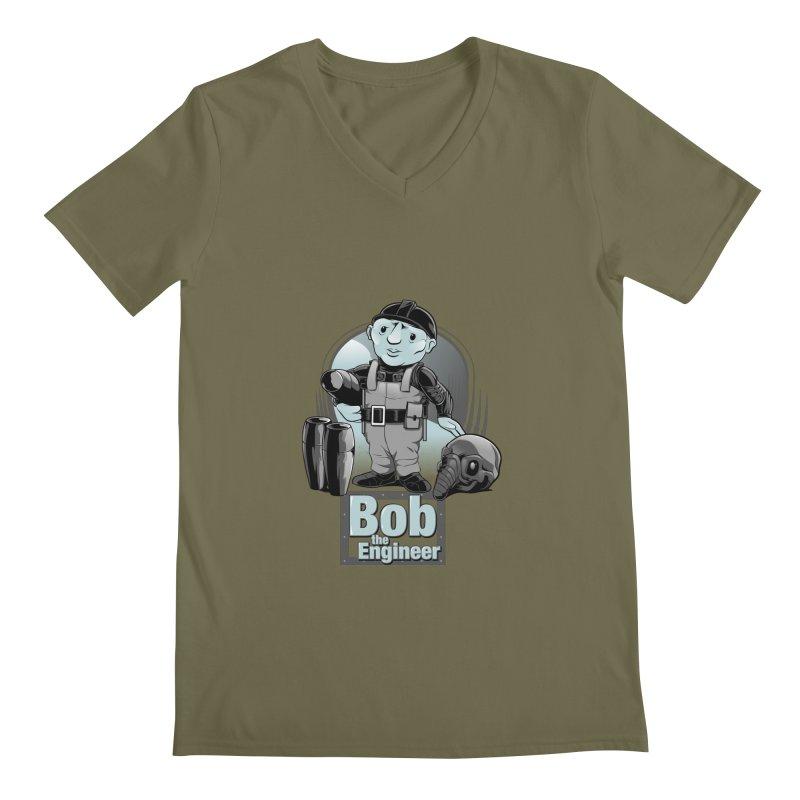 Bob the Engineer Men's V-Neck by Nikoby's Artist Shop