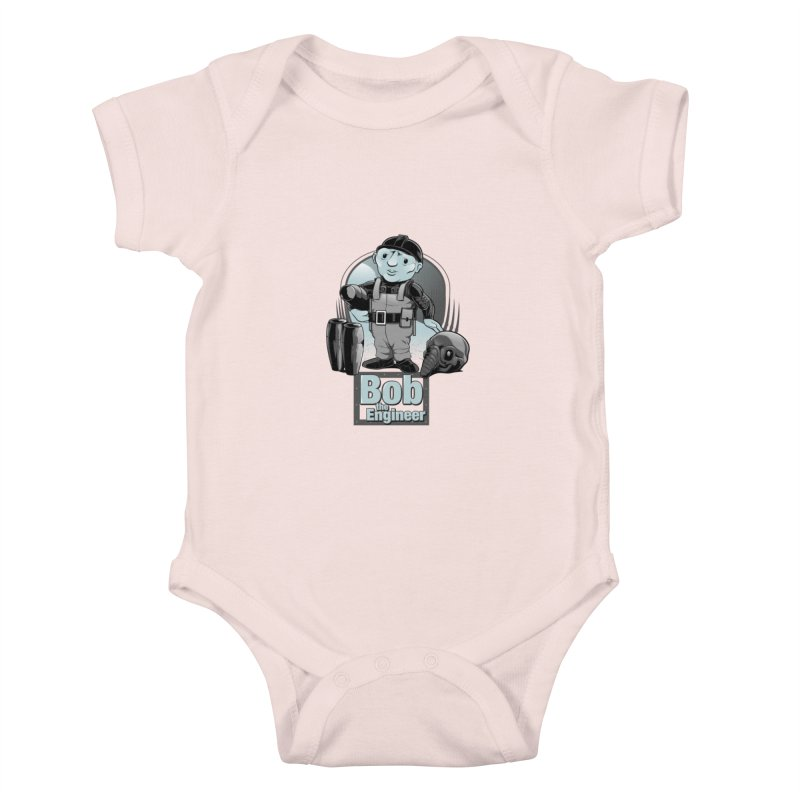 Bob the Engineer Kids Baby Bodysuit by Nikoby's Artist Shop