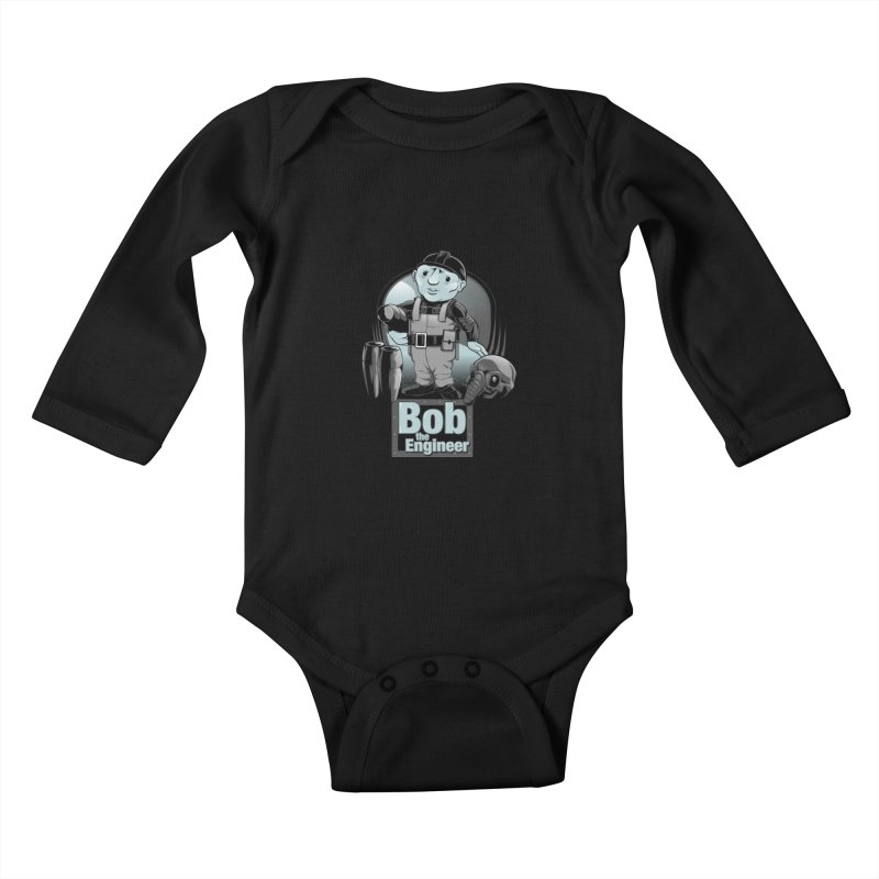 Bob the Engineer Kids Baby Longsleeve Bodysuit by Nikoby's Artist Shop