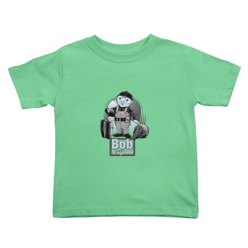 Bob the Engineer Kids Toddler T-Shirt by Nikoby's Artist Shop