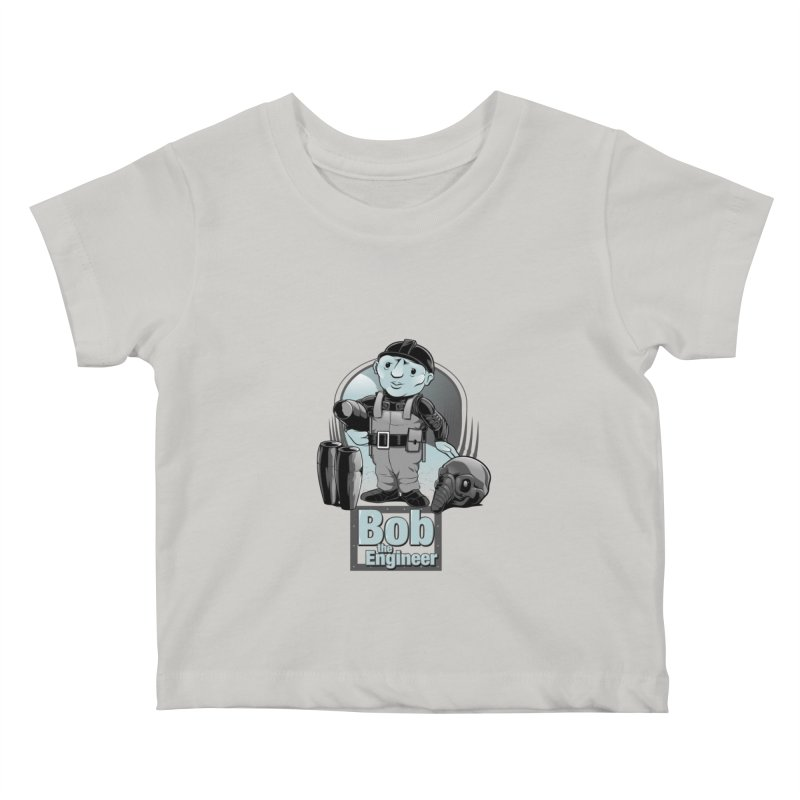 Bob the Engineer Kids Baby T-Shirt by Nikoby's Artist Shop