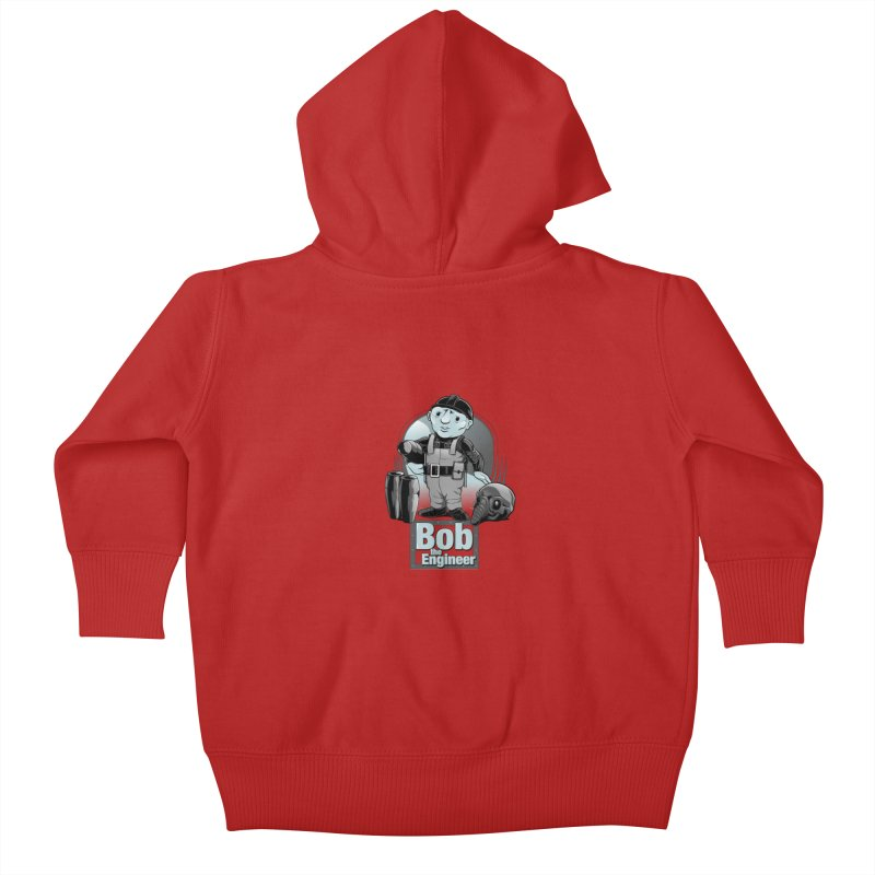 Bob the Engineer Kids Baby Zip-Up Hoody by Nikoby's Artist Shop