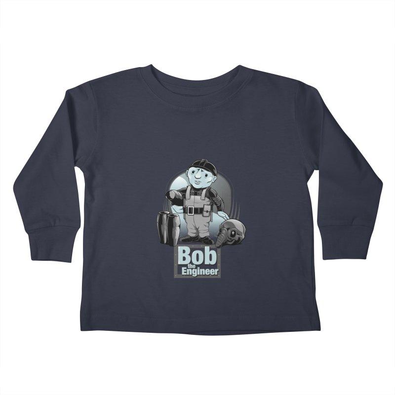 Bob the Engineer Kids Toddler Longsleeve T-Shirt by Nikoby's Artist Shop