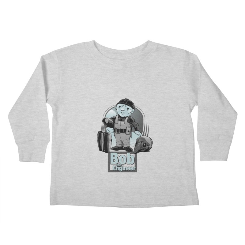 Bob the Engineer Kids Toddler Longsleeve T-Shirt by Nikoby's Artist Shop