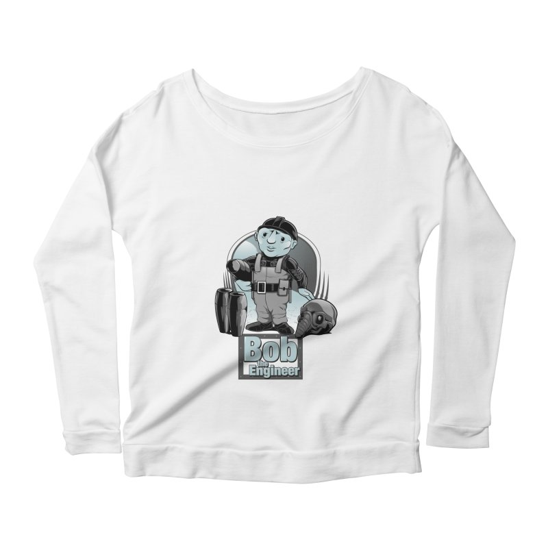 Bob the Engineer Women's Longsleeve Scoopneck  by Nikoby's Artist Shop