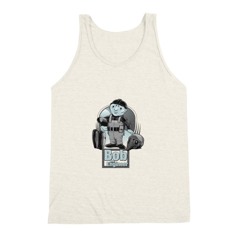 Bob the Engineer Men's Triblend Tank by Nikoby's Artist Shop