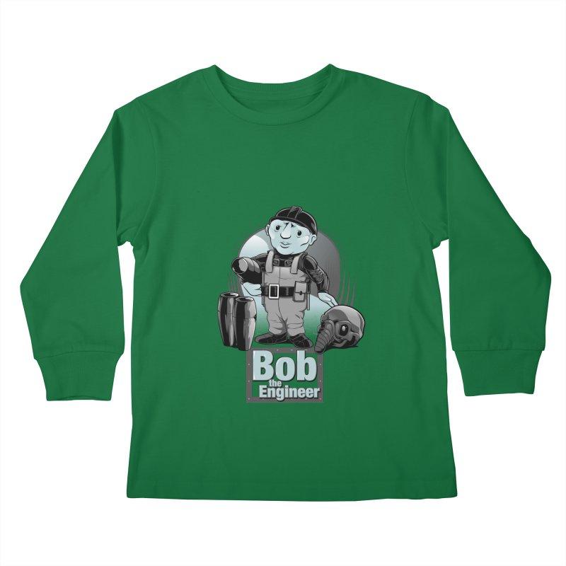 Bob the Engineer Kids Longsleeve T-Shirt by Nikoby's Artist Shop