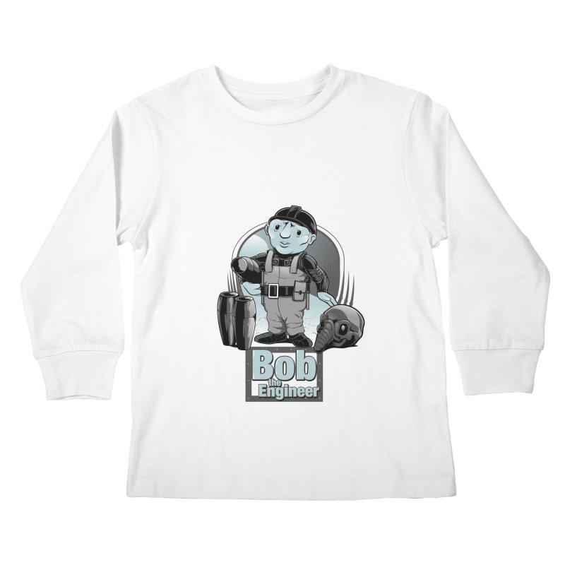 Bob the Engineer Kids Longsleeve T-Shirt by Nikoby's Artist Shop