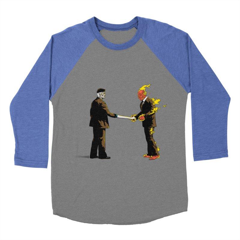Wish You Were Fantastic Men's Baseball Triblend T-Shirt by Nikoby's Artist Shop