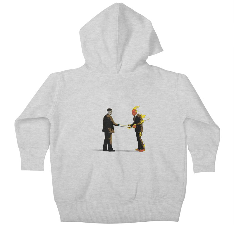 Wish You Were Fantastic Kids Baby Zip-Up Hoody by Nikoby's Artist Shop