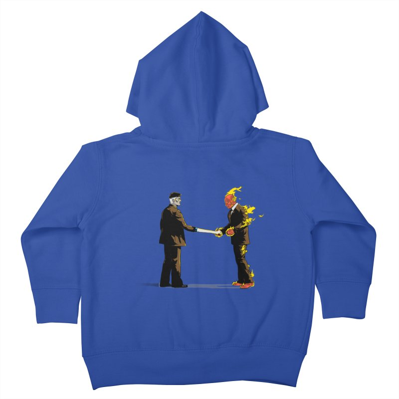 Wish You Were Fantastic Kids Toddler Zip-Up Hoody by Nikoby's Artist Shop