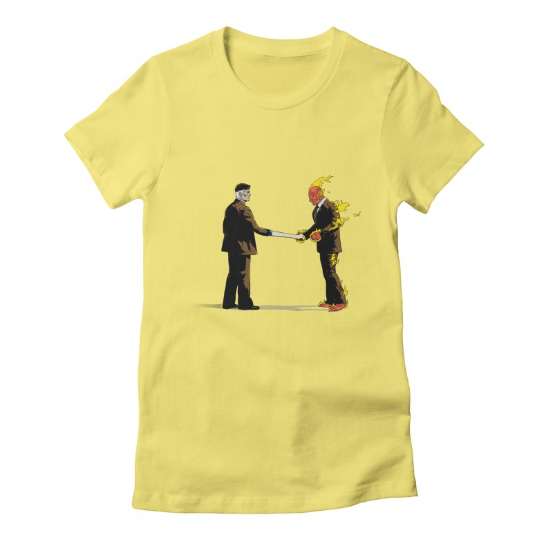 Wish You Were Fantastic Women's Fitted T-Shirt by Nikoby's Artist Shop