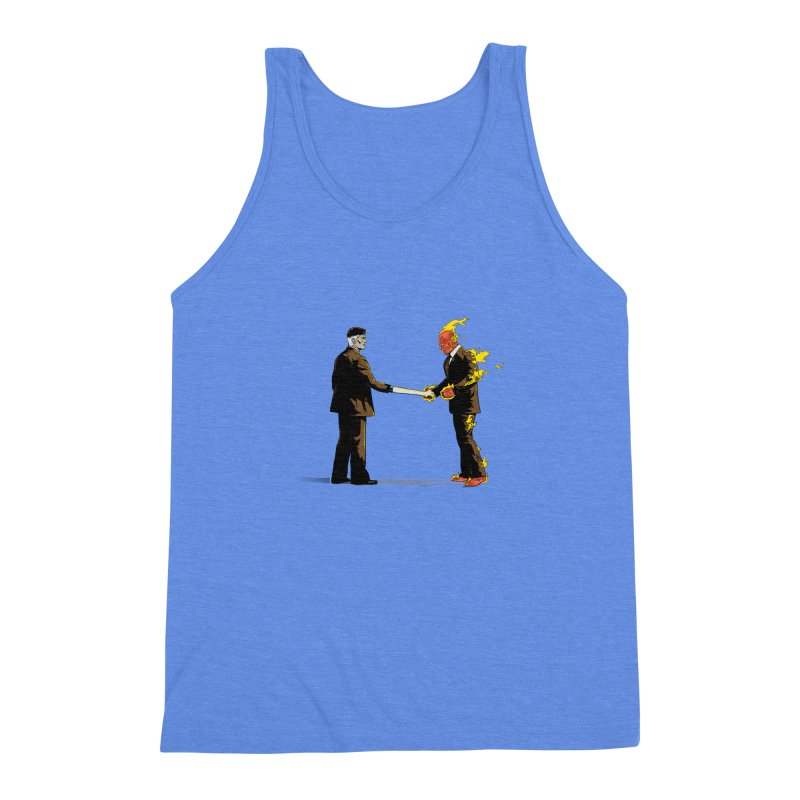 Wish You Were Fantastic Men's Triblend Tank by Nikoby's Artist Shop