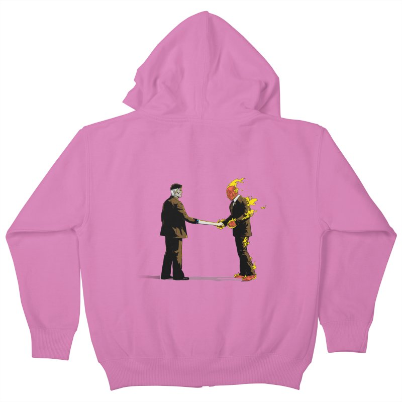 Wish You Were Fantastic Kids Zip-Up Hoody by Nikoby's Artist Shop