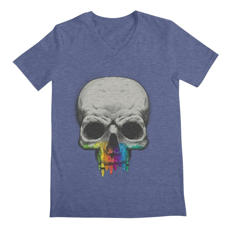 The Many Colors of Death Men's V-Neck by Nikoby's Artist Shop