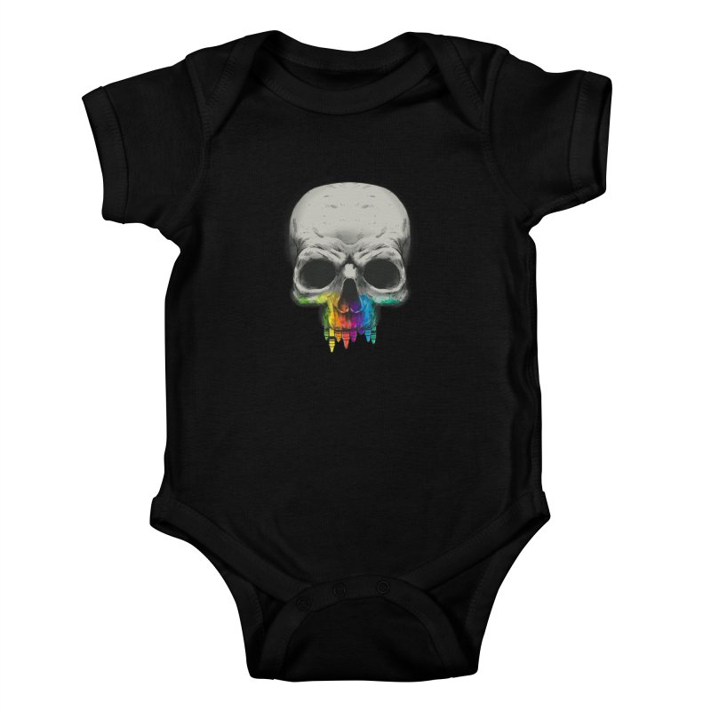 The Many Colors of Death Kids Baby Bodysuit by Nikoby's Artist Shop